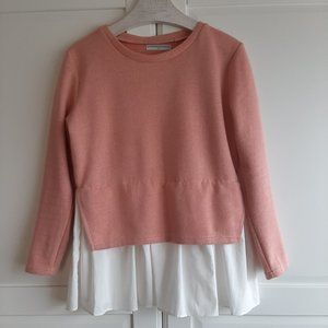 Baby Pink Pullover with Mock Shirt